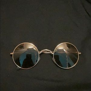 """Old Fashioned"" Gold Sunglasses"